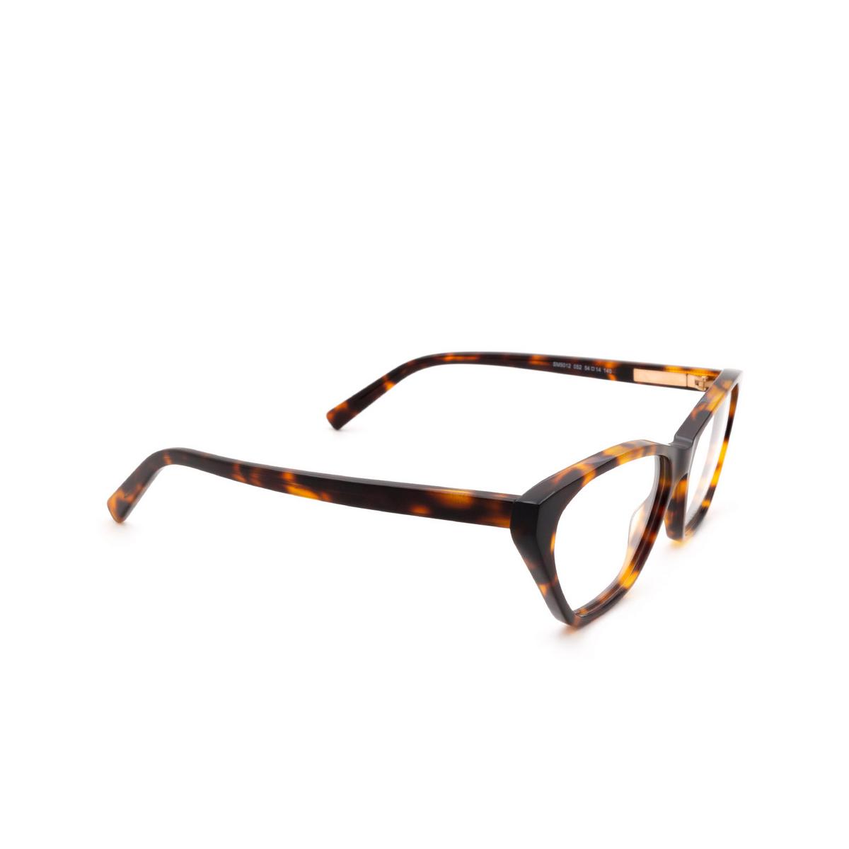 Sportmax® Butterfly Eyeglasses: SM5012 color Dark Havana 052.