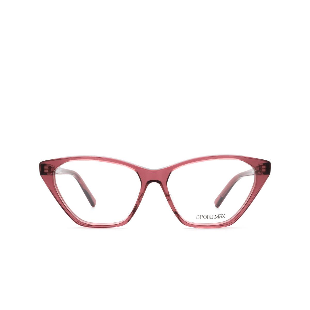 Sportmax® Butterfly Eyeglasses: SM5012 color Bordeaux 069.