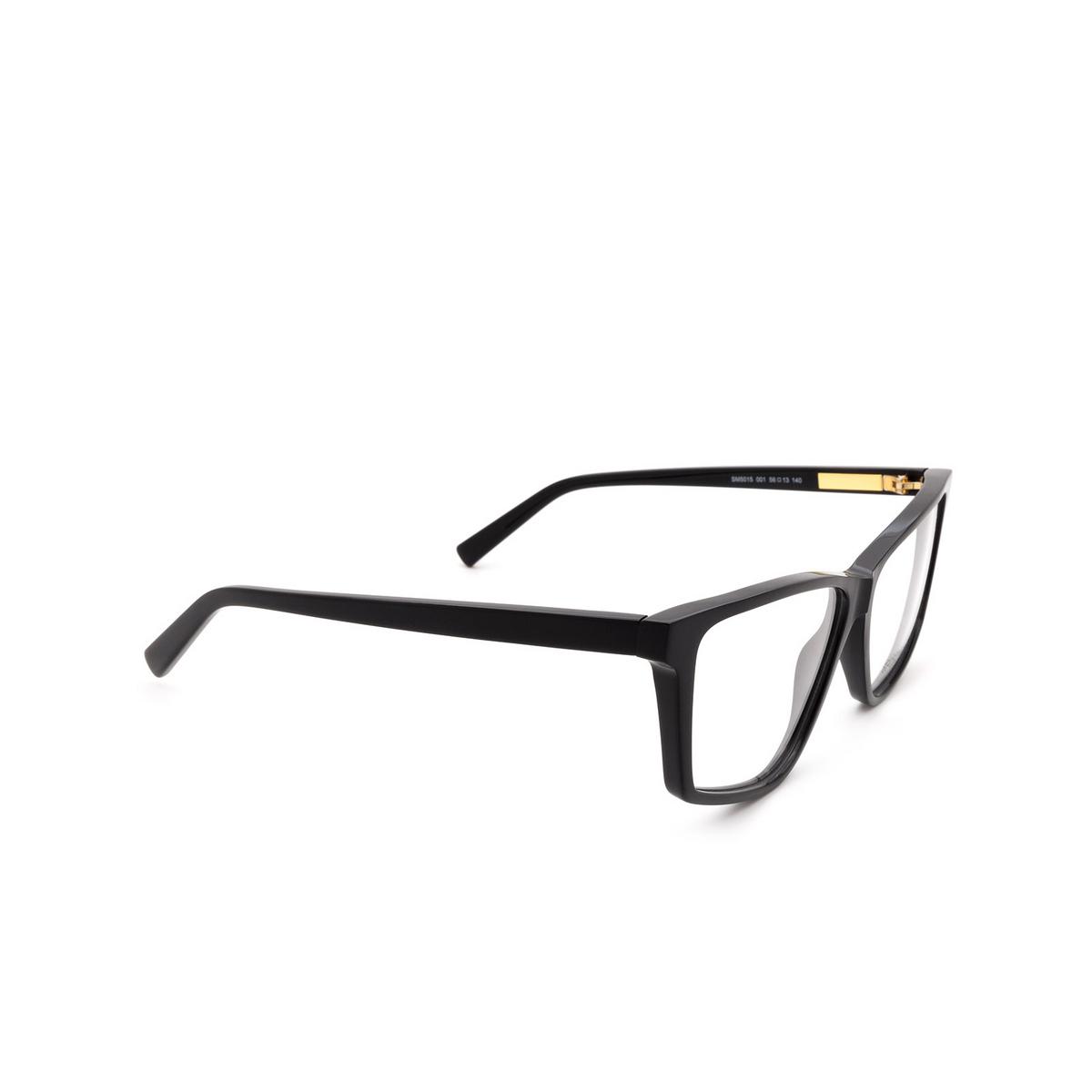Sportmax® Irregular Eyeglasses: SM5015 color Black 001.