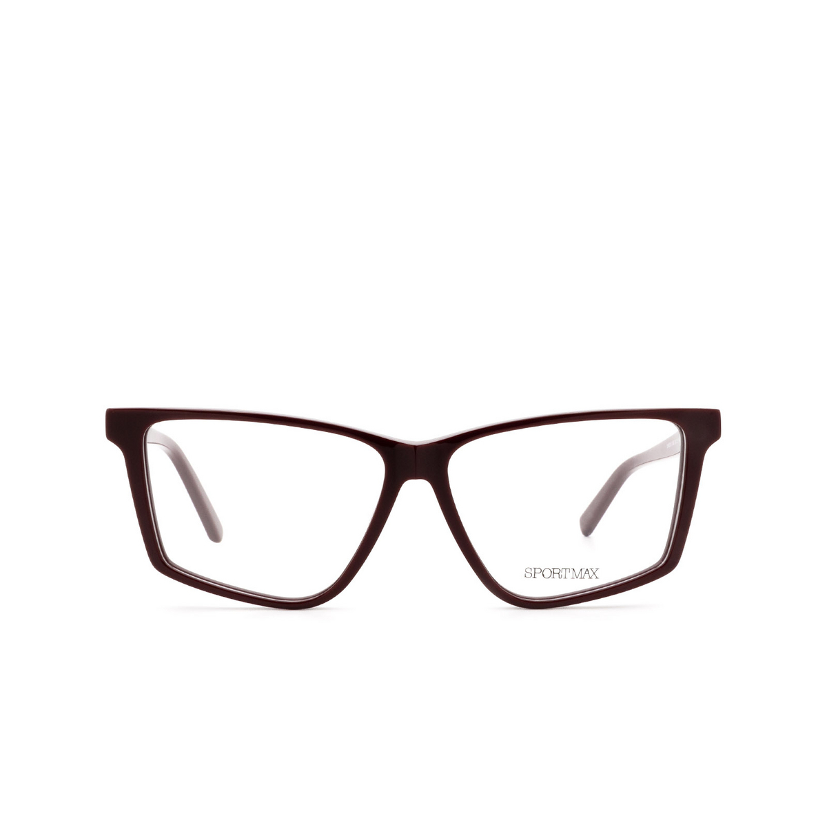 Sportmax® Irregular Eyeglasses: SM5015 color Bordeaux 069.