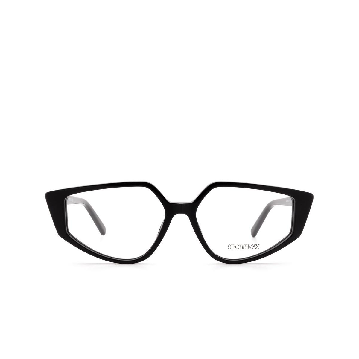Sportmax® Irregular Eyeglasses: SM5016 color Black 001.