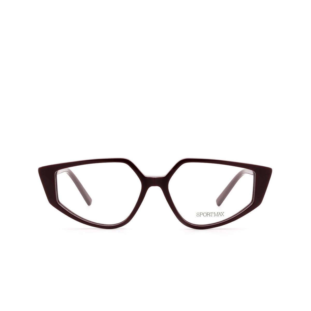 Sportmax® Irregular Eyeglasses: SM5016 color Bordeaux 069.