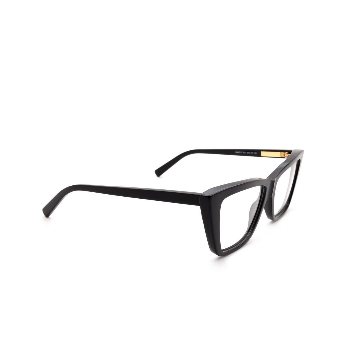 Sportmax® Irregular Eyeglasses: SM5017 color Black 001.