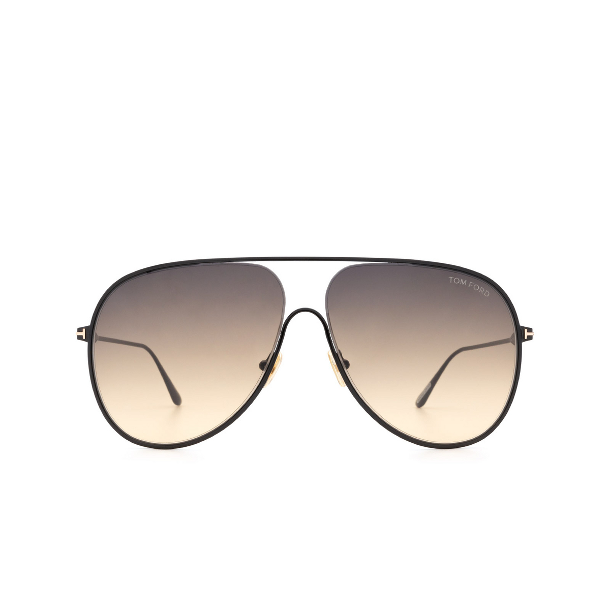 Tom Ford® Aviator Sunglasses: Alec FT0824 color Black 01B - front view.