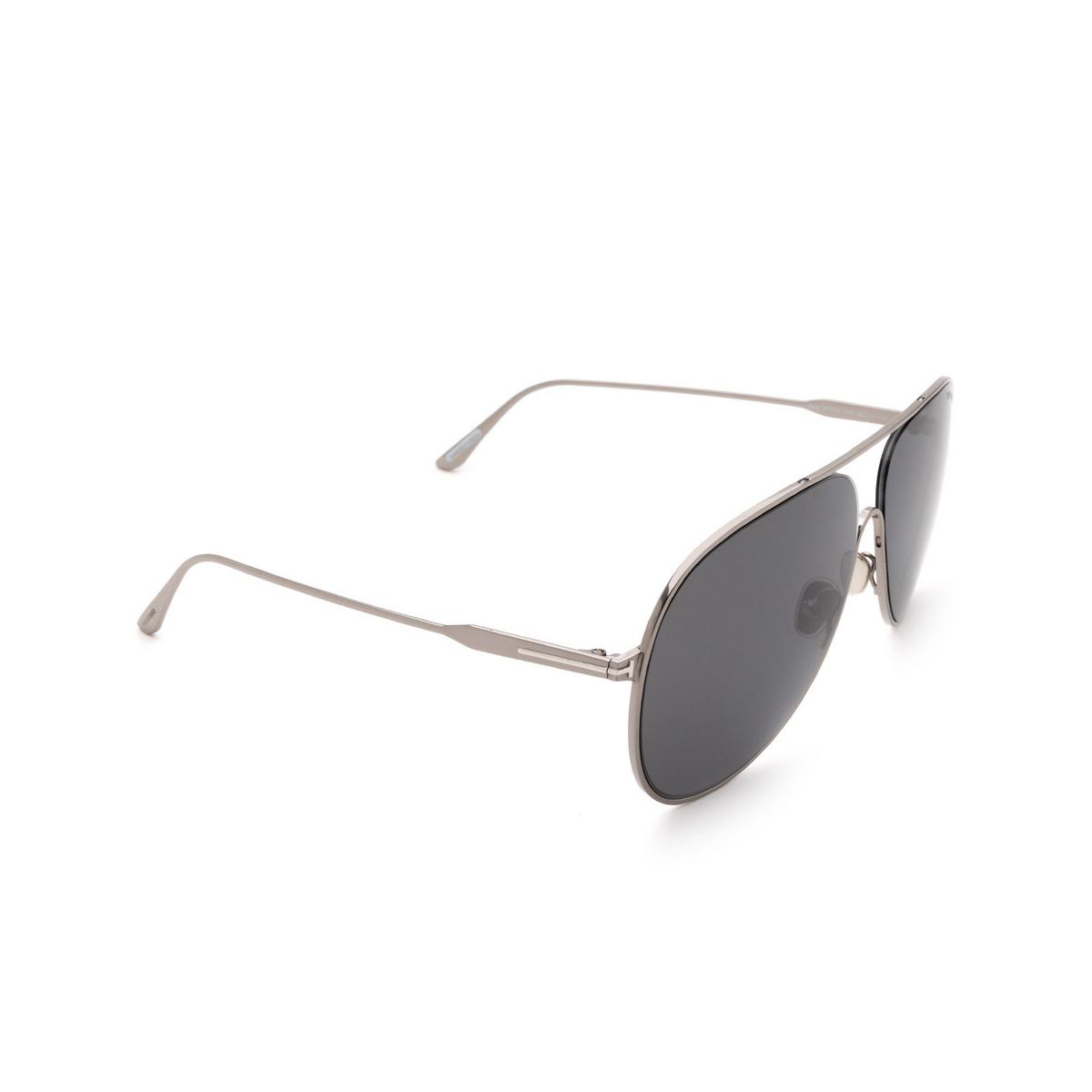 Tom Ford® Aviator Sunglasses: Alec FT0824 color Ruthenium 12C.