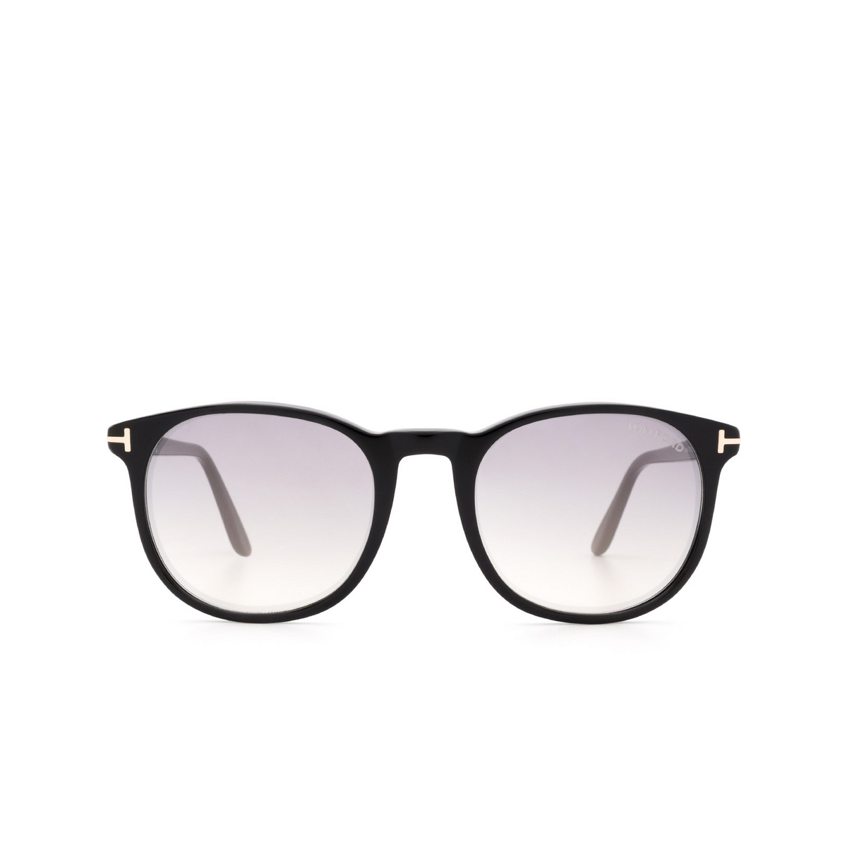 Tom Ford® Square Sunglasses: Ansel FT0858 color Black 01C - front view.