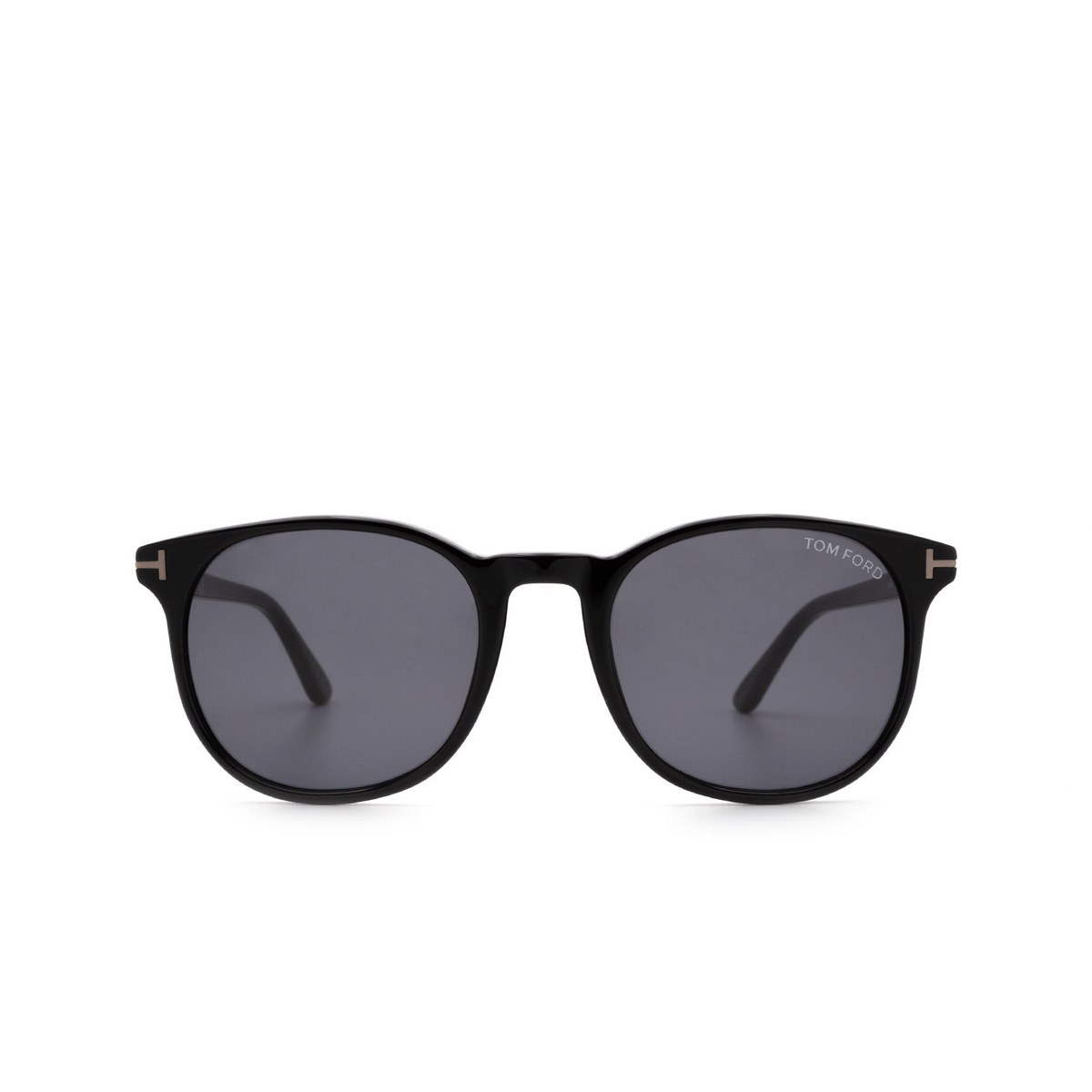 Tom Ford® Round Sunglasses: Ansel FT0858-N color Shiny Black 01A.