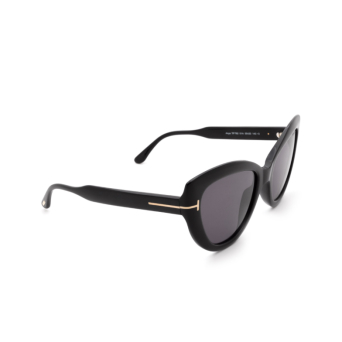 Tom Ford® Cat-eye Sunglasses: Anya FT0762 color Shiny Black 01A.