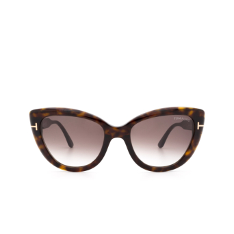 Tom Ford® Cat-eye Sunglasses: Anya FT0762 color Dark Havana 52K.