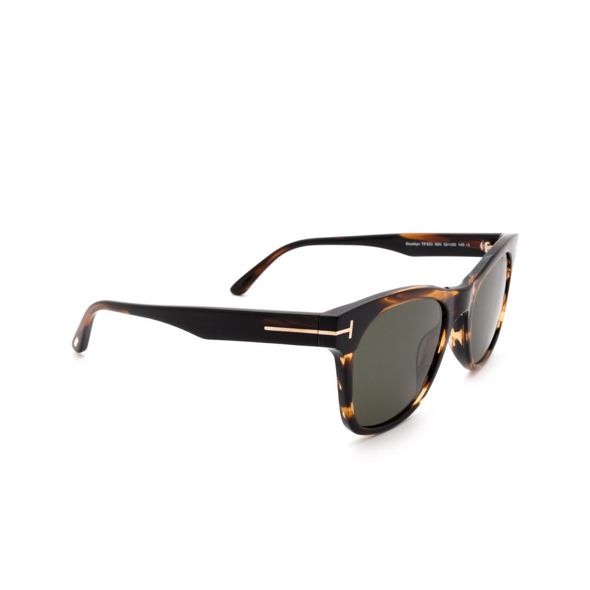Tom Ford® Square Sunglasses: Brooklyn FT0833 color Havana 56N.