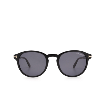 Tom Ford® Round Sunglasses: Dante FT0834 color Shiny Black 01A.