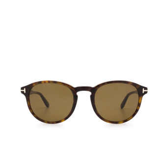 Tom Ford® Round Sunglasses: Dante FT0834 color Dark Havana 52J.