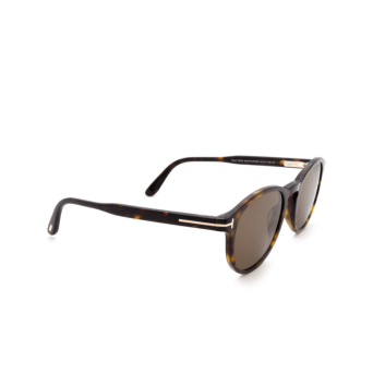 Tom Ford® Round Sunglasses: Dante FT0834 color Dark Havana 52M.