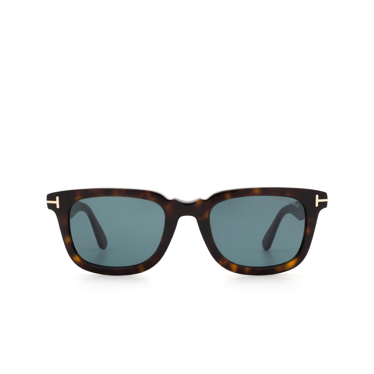 Tom Ford® Rectangle Sunglasses: Dario FT0817 color Dark Havana 52V - front view.