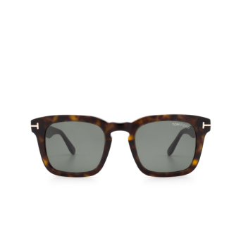 Tom Ford® Square Sunglasses: Dax FT0751 color Dark Havana 52N.
