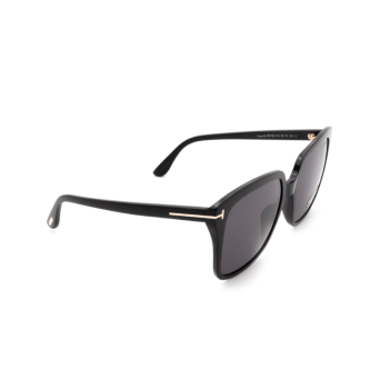 Tom Ford® Square Sunglasses: Faye-02 FT0788 color Shiny Black 01A.