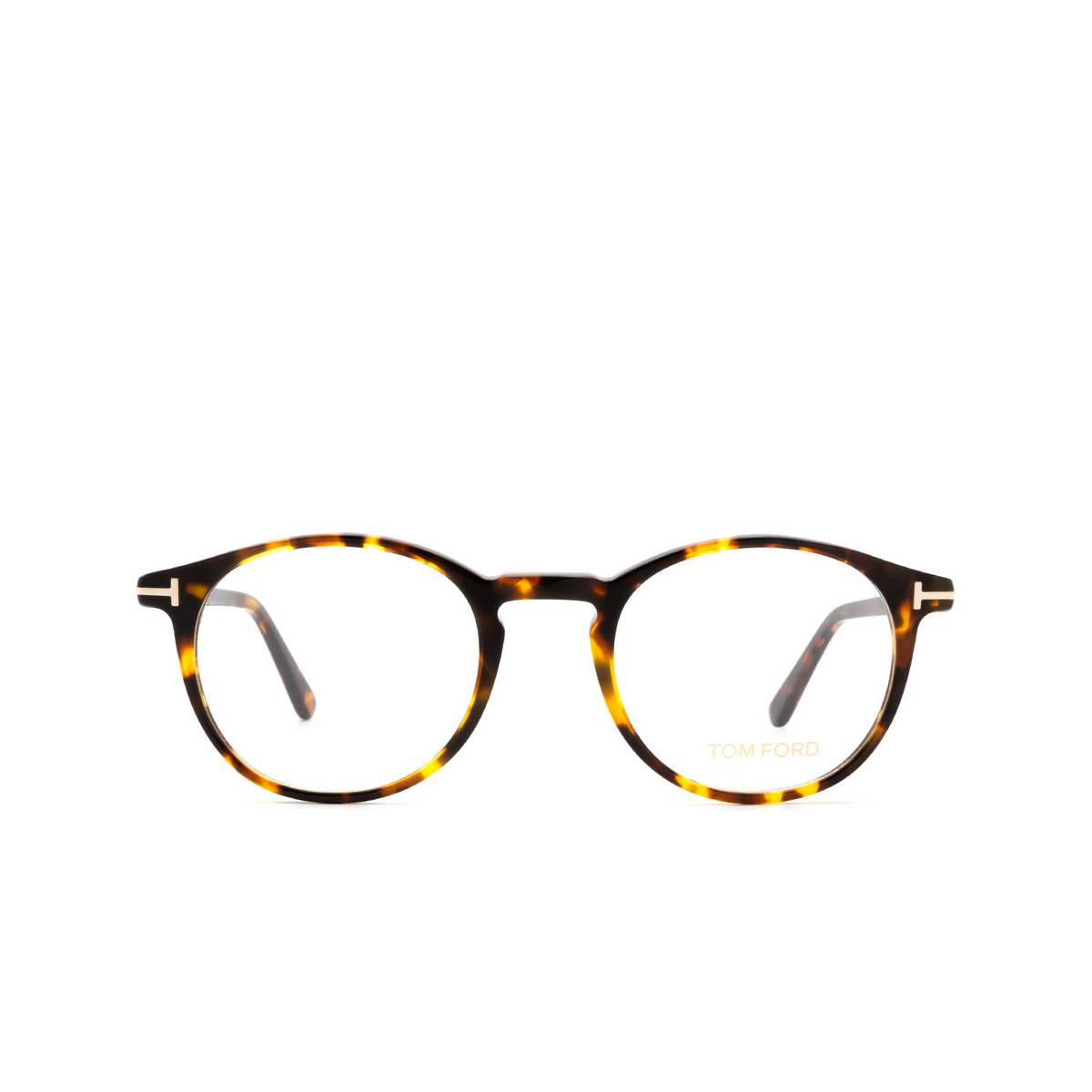 Tom Ford® Round Eyeglasses: FT5294 color Dark Havana 52A.