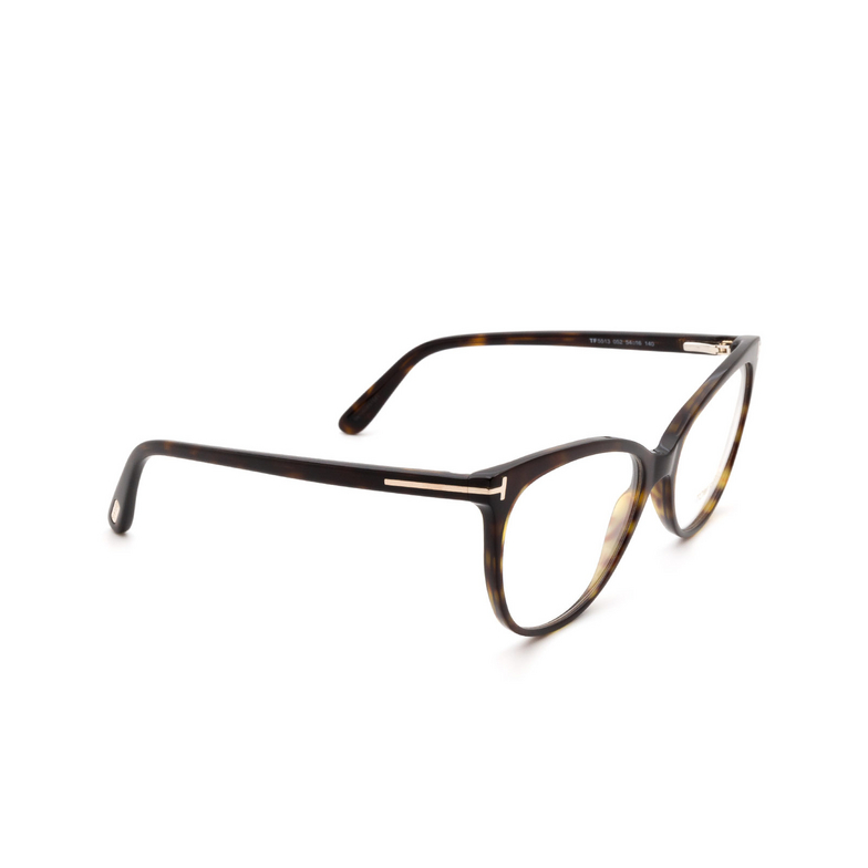 Tom Ford® Cat-eye Eyeglasses: FT5513 color Dark Havana 052.