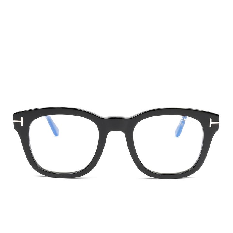 Tom Ford® Square Eyeglasses: FT5542-B color Black 001.