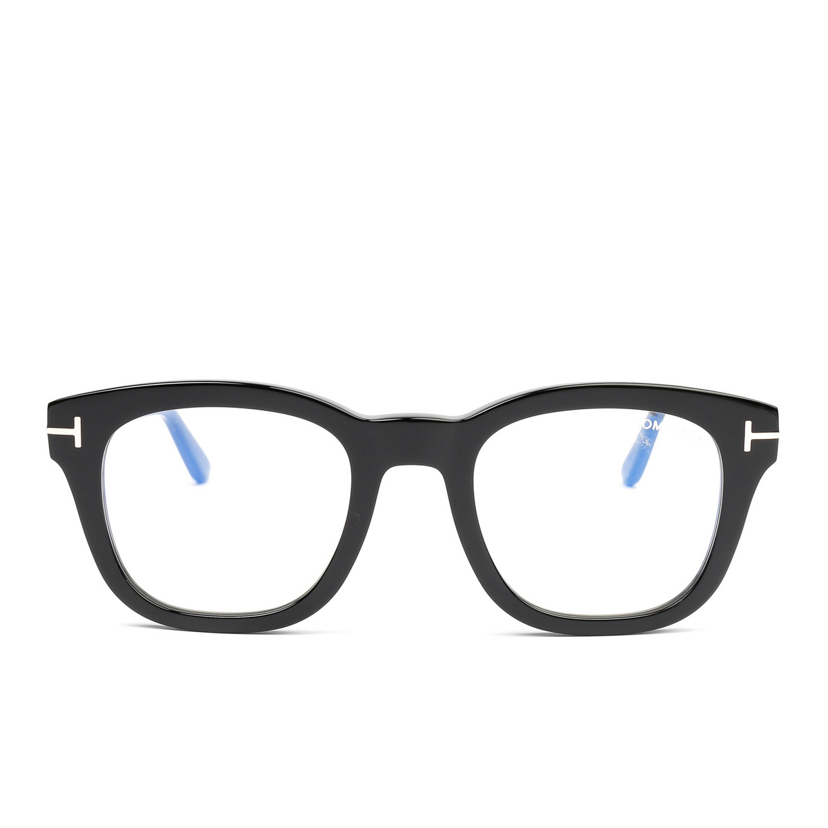 Tom Ford® Square Eyeglasses: FT5542-B color Black 001 - front view.