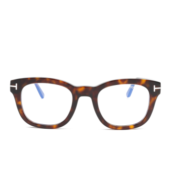 Tom Ford® Square Eyeglasses: FT5542-B color Dark Havana 052.