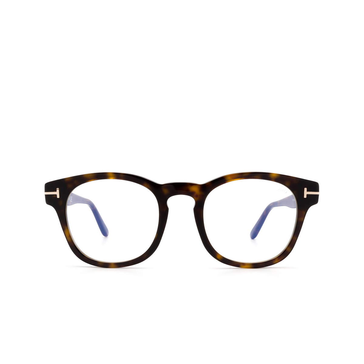 Tom Ford® Square Eyeglasses: FT5543-B color Dark Havana 052 - front view.