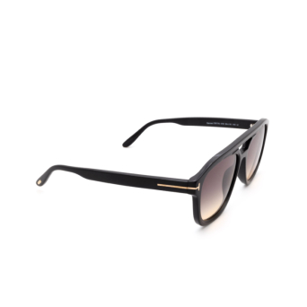 Tom Ford® Aviator Sunglasses: Gerrard FT0776 color Matte Black 01B.