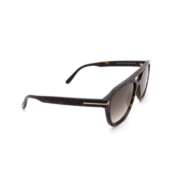 Tom Ford® Aviator Sunglasses: Gerrard FT0776 color Dark Havana 52B.