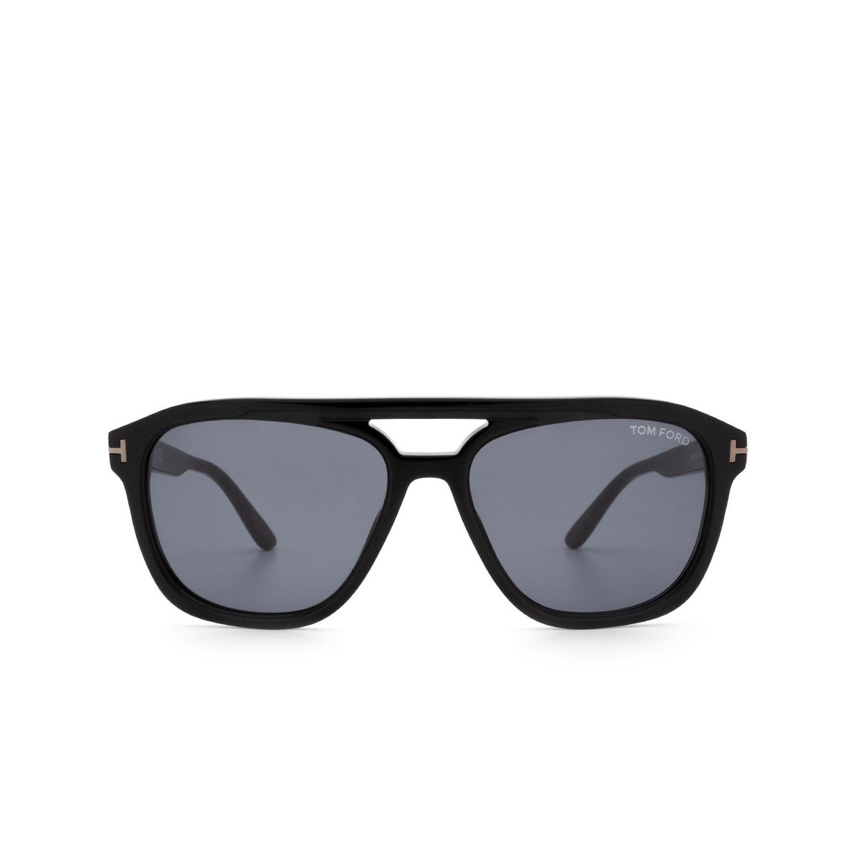 Tom Ford® Aviator Sunglasses: Gerrard FT0776-N color Shiny Black 01A.