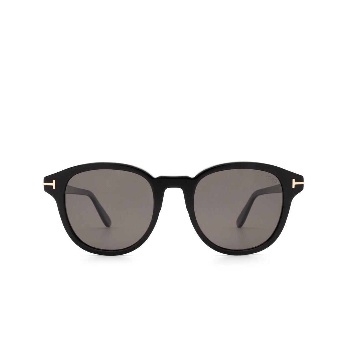 Tom Ford® Square Sunglasses: Jameson FT0752 color Black 01D - front view.