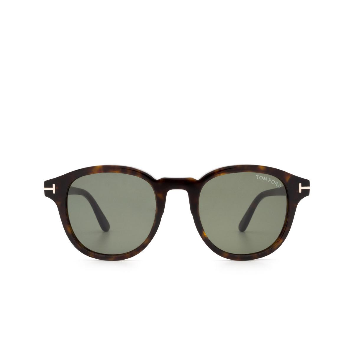 Tom Ford® Square Sunglasses: Jameson FT0752 color Dark Havana 52N.