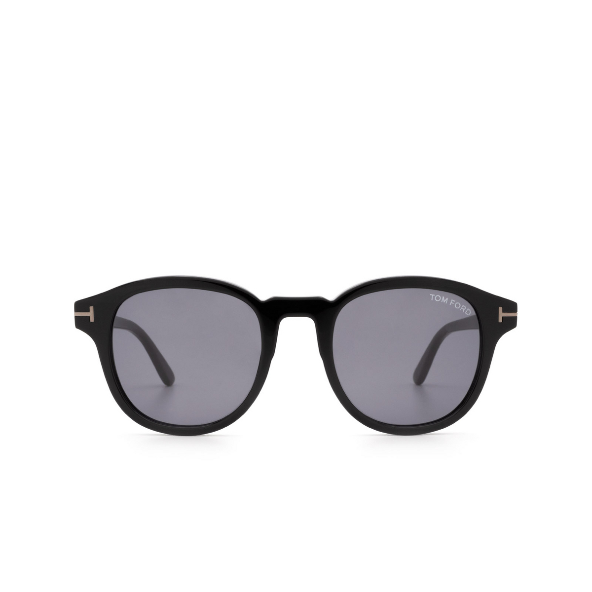 Tom Ford® Square Sunglasses: Jameson FT0752-N color Black 01A - front view.
