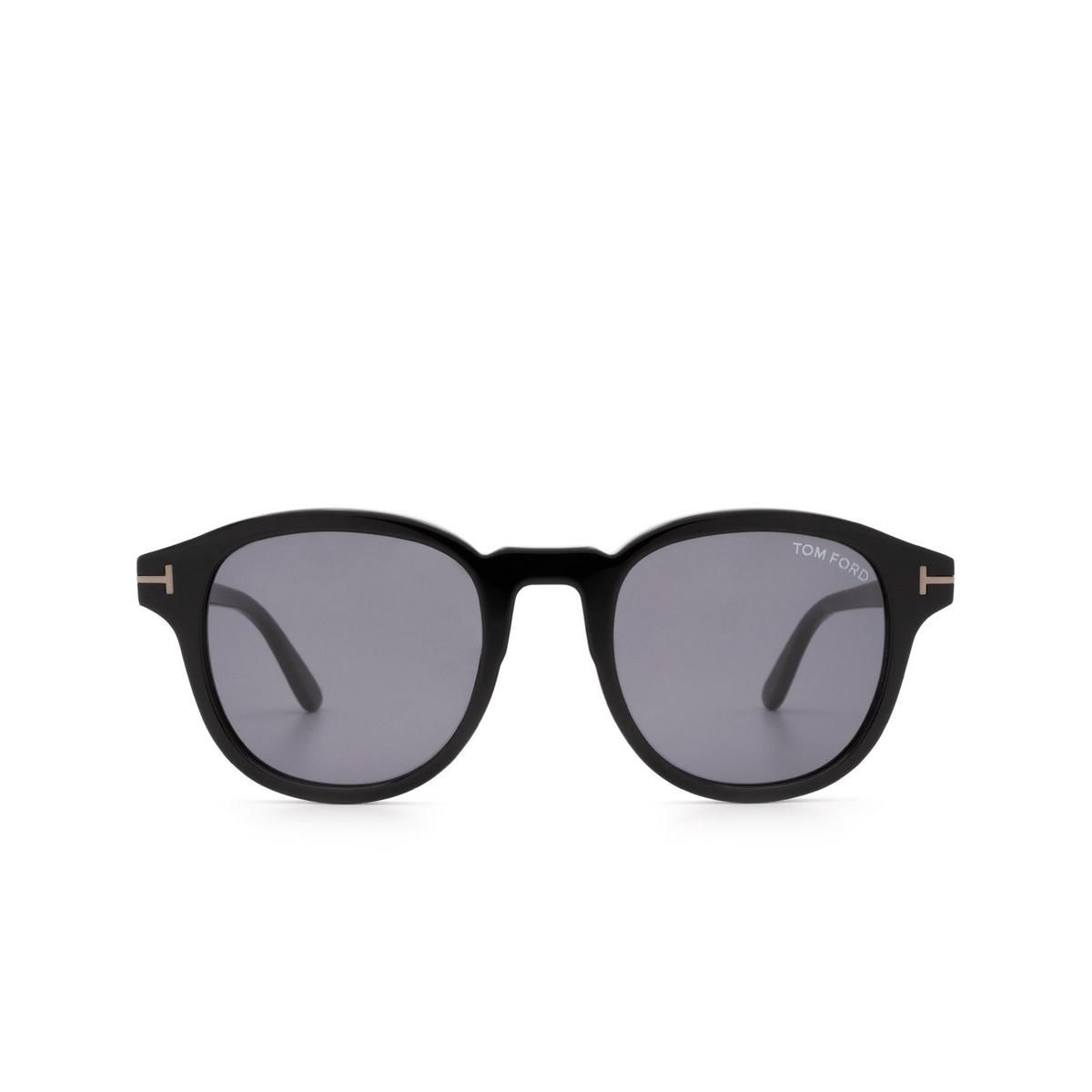 Tom Ford® Square Sunglasses: Jameson FT0752-N color Black 01A.