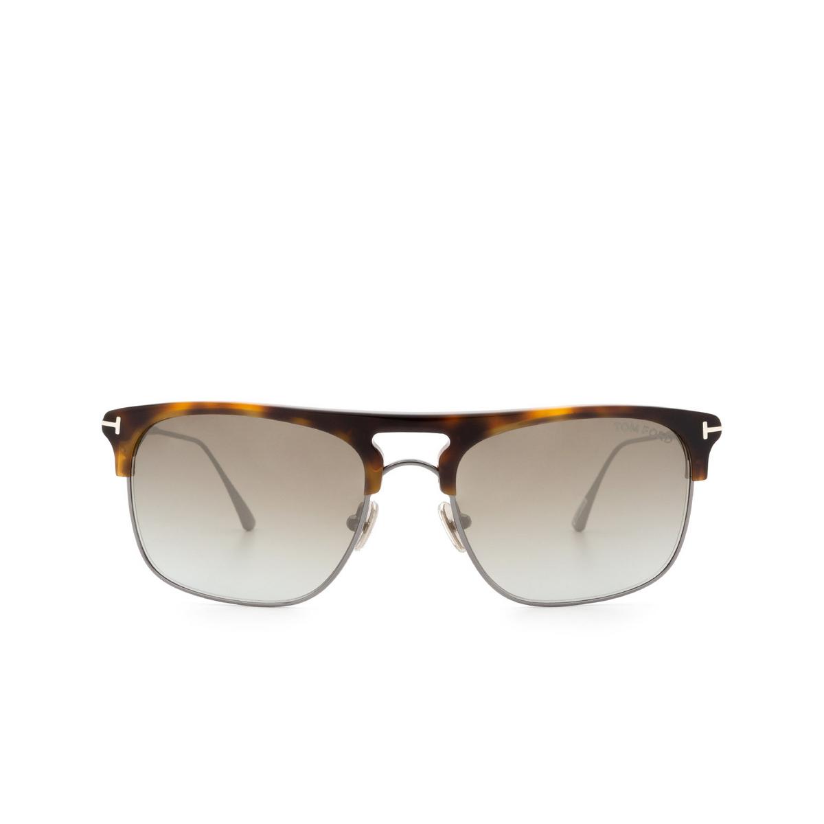 Tom Ford® Square Sunglasses: Lee FT0830 color Blonde Havana 53Q.