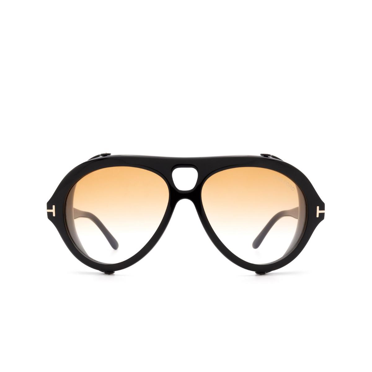 Tom Ford® Aviator Sunglasses: Neughman FT0882 color Black 01B.