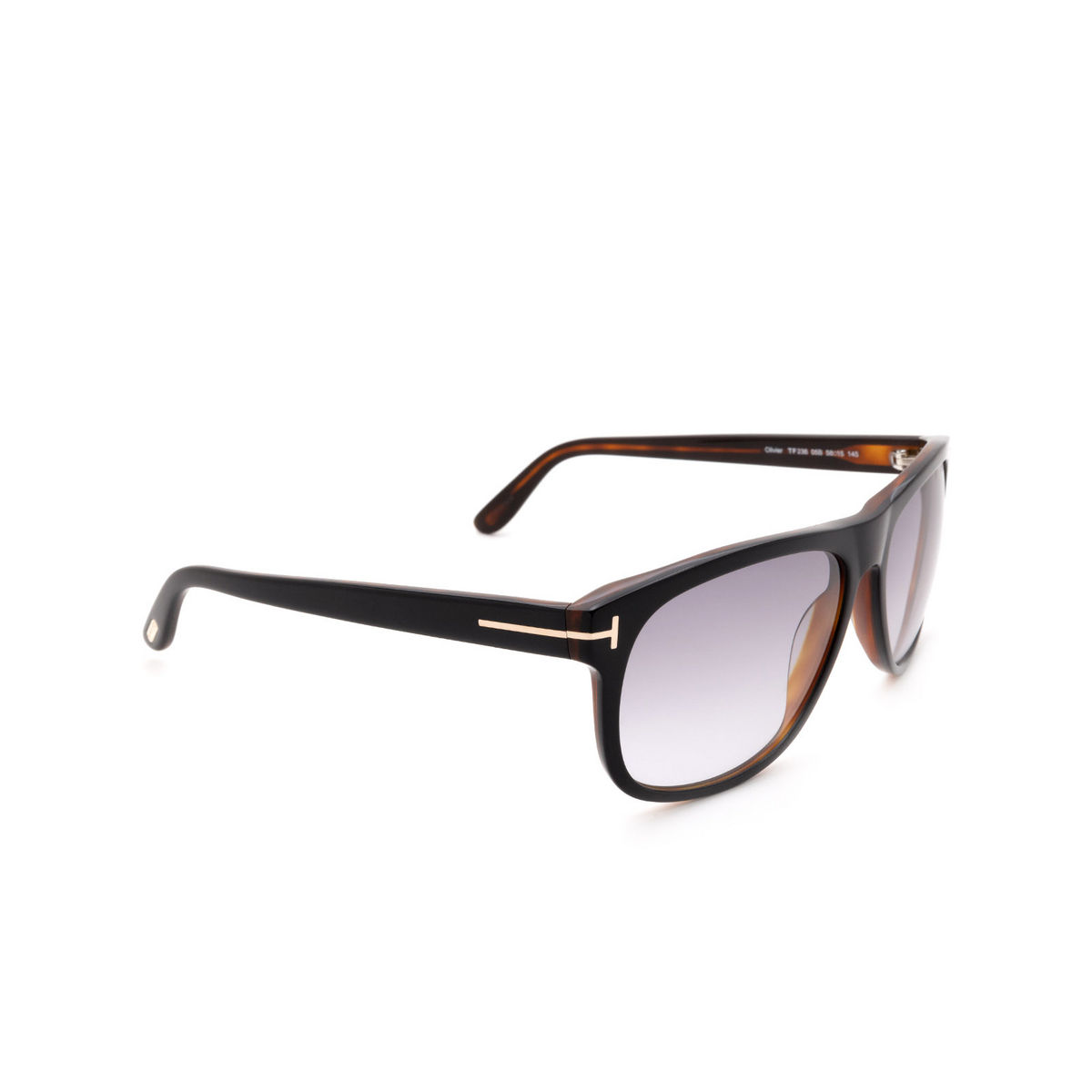 Tom Ford® Square Sunglasses: Olivier FT0236 color Black 05B.