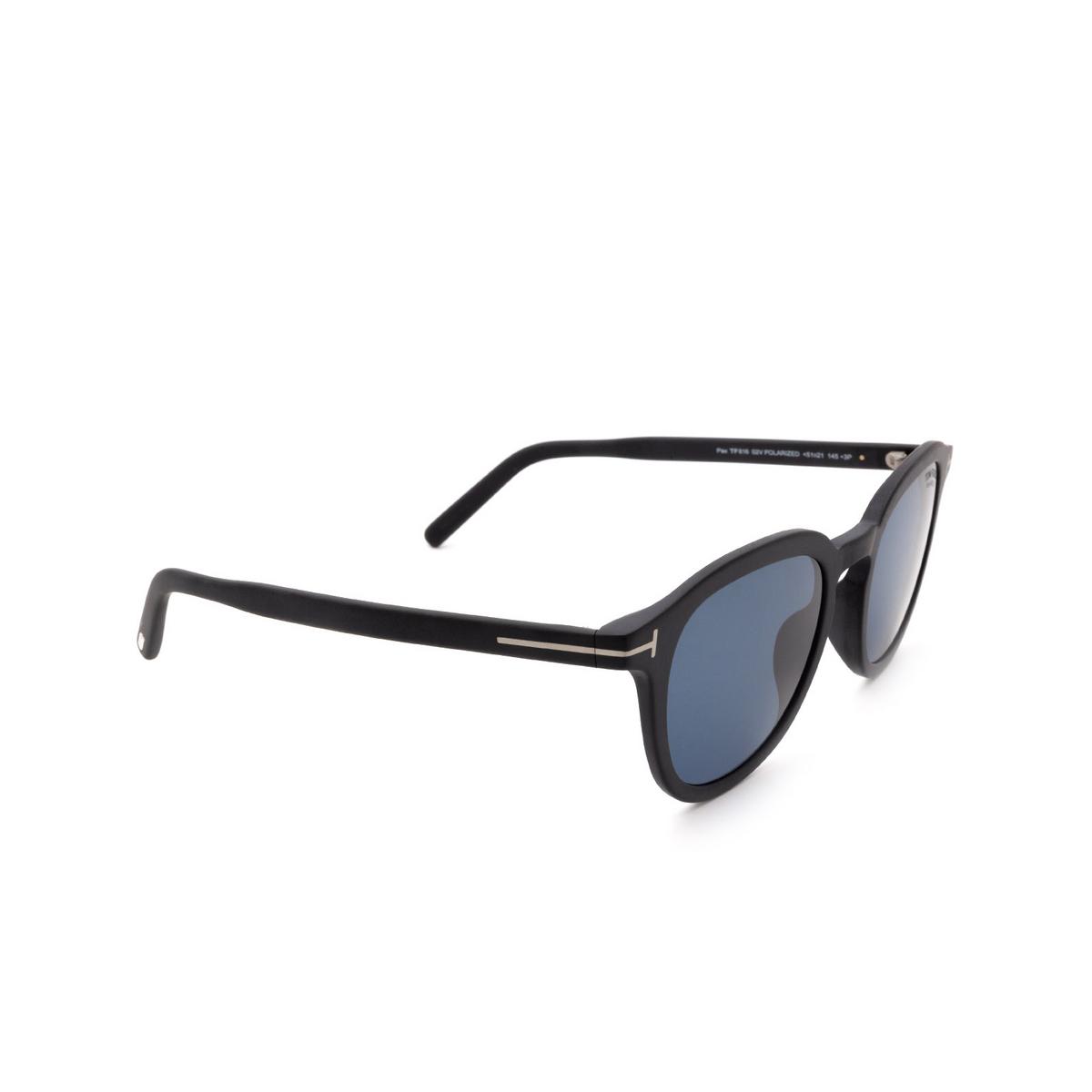 Tom Ford® Square Sunglasses: Pax FT0816 color Matte Black 02V.