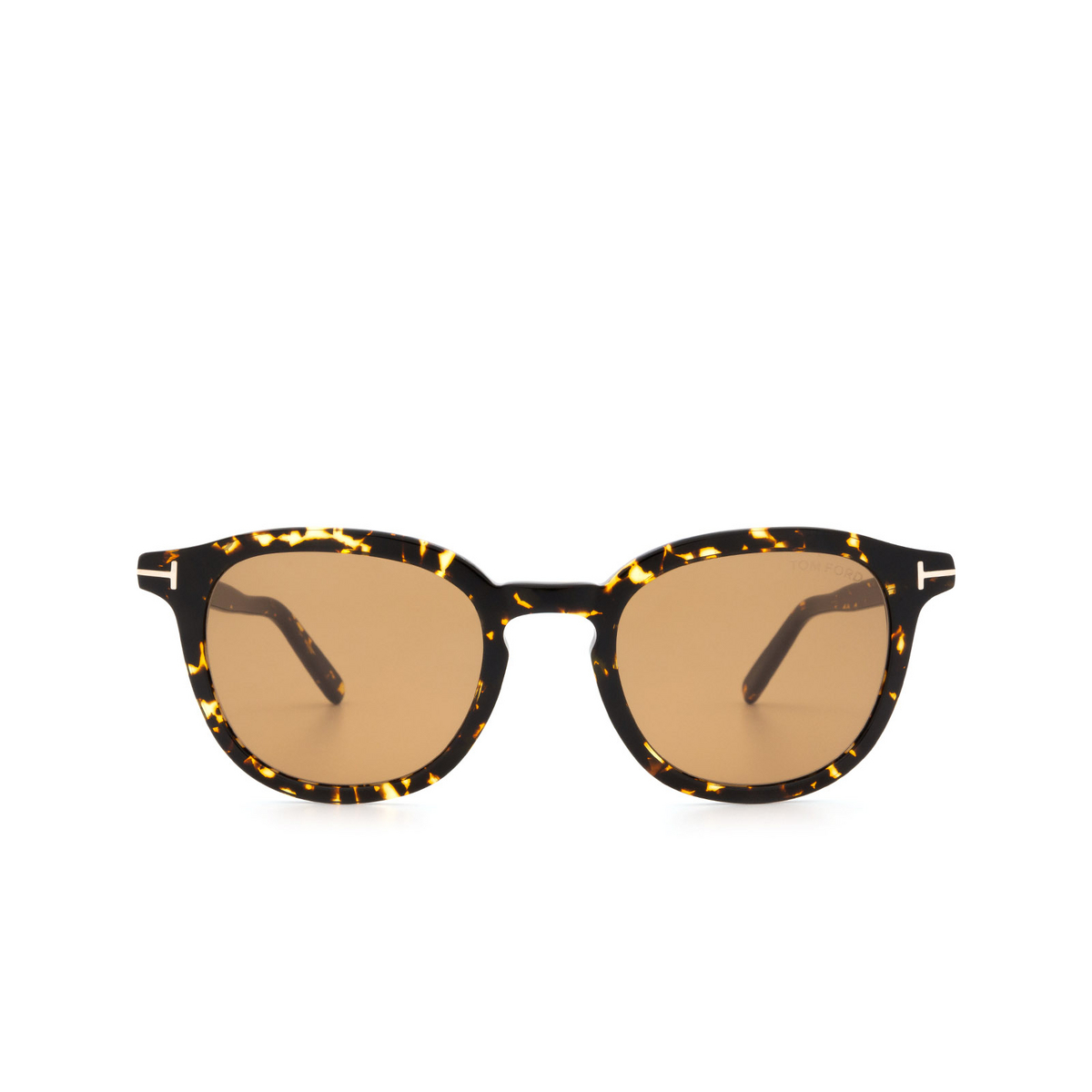 Tom Ford® Square Sunglasses: Pax FT0816 color Dark Havana 52E - front view.