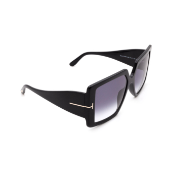 Tom Ford® Square Sunglasses: Quinn FT0790 color Shiny Black 01B.