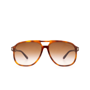 Tom Ford® Aviator Sunglasses: Raoul FT0753 color Blonde Havana 53F.