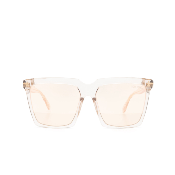 Tom Ford® Square Sunglasses: Sabrina-02 FT0764 color Grey Transparent 20Z.