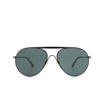 Tom Ford® Aviator Sunglasses: Smith FT0773 color Shiny Black 01V.