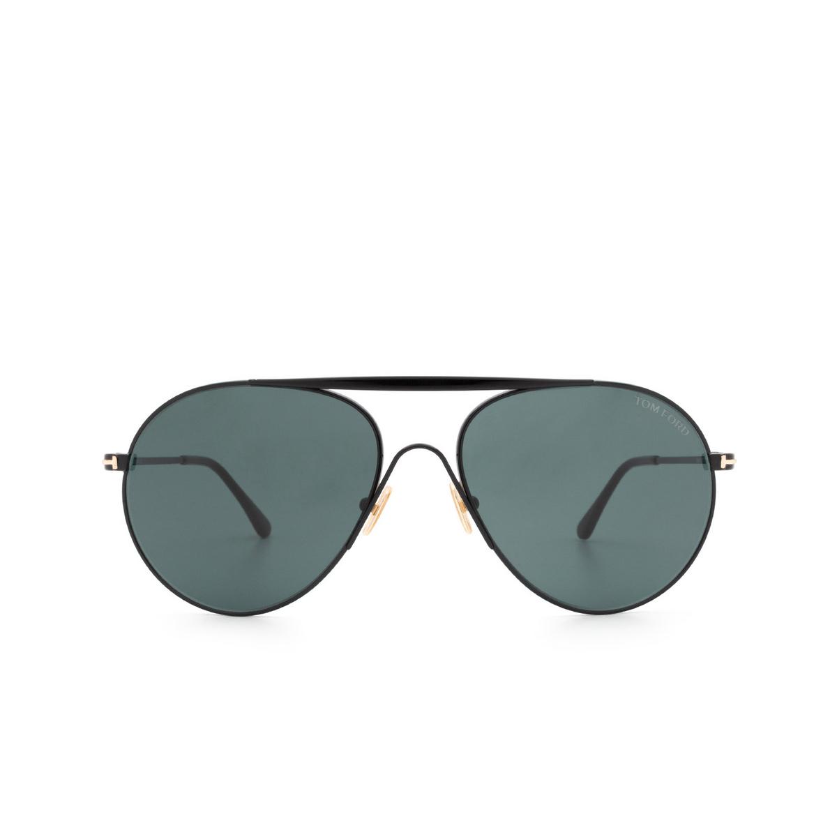 Tom Ford® Aviator Sunglasses: Smith FT0773 color Shiny Black 01V.