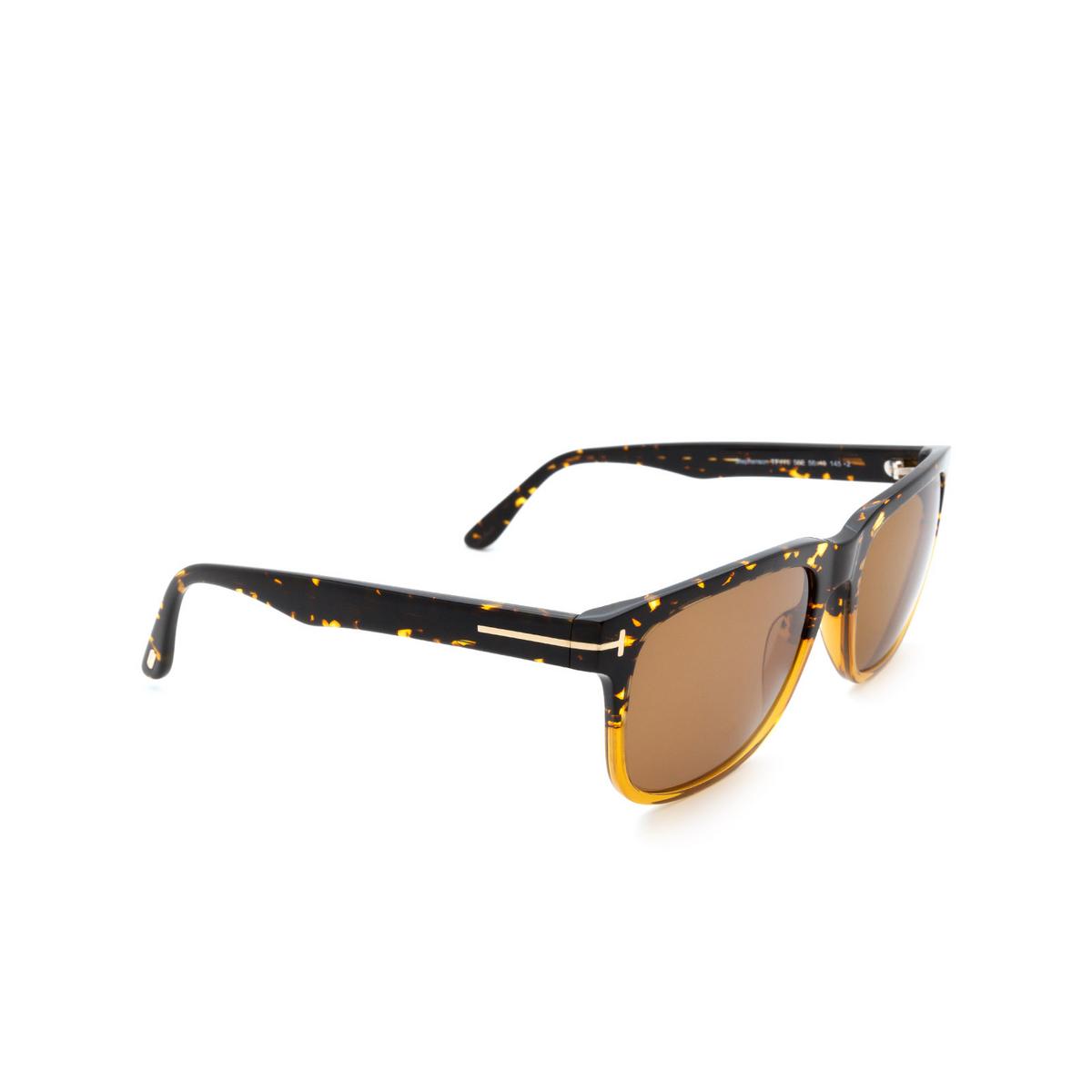 Tom Ford® Square Sunglasses: Stephenson FT0775 color Havana & Honey 56E.