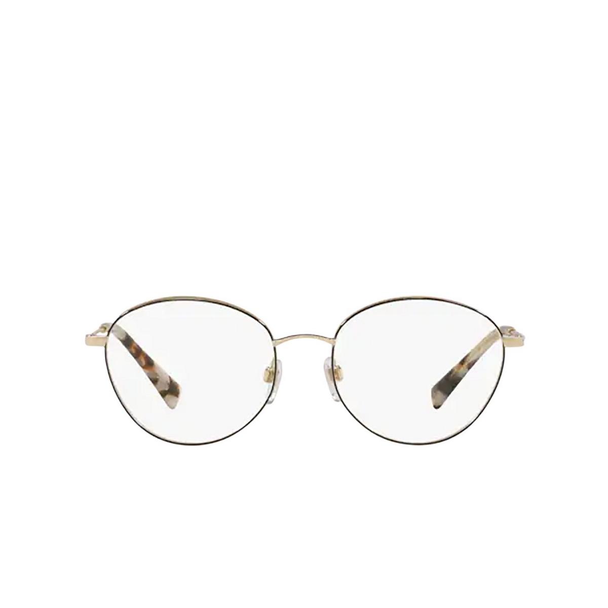 Valentino® Oval Eyeglasses: VA1003 color Pale Gold / Black 3003 - front view.