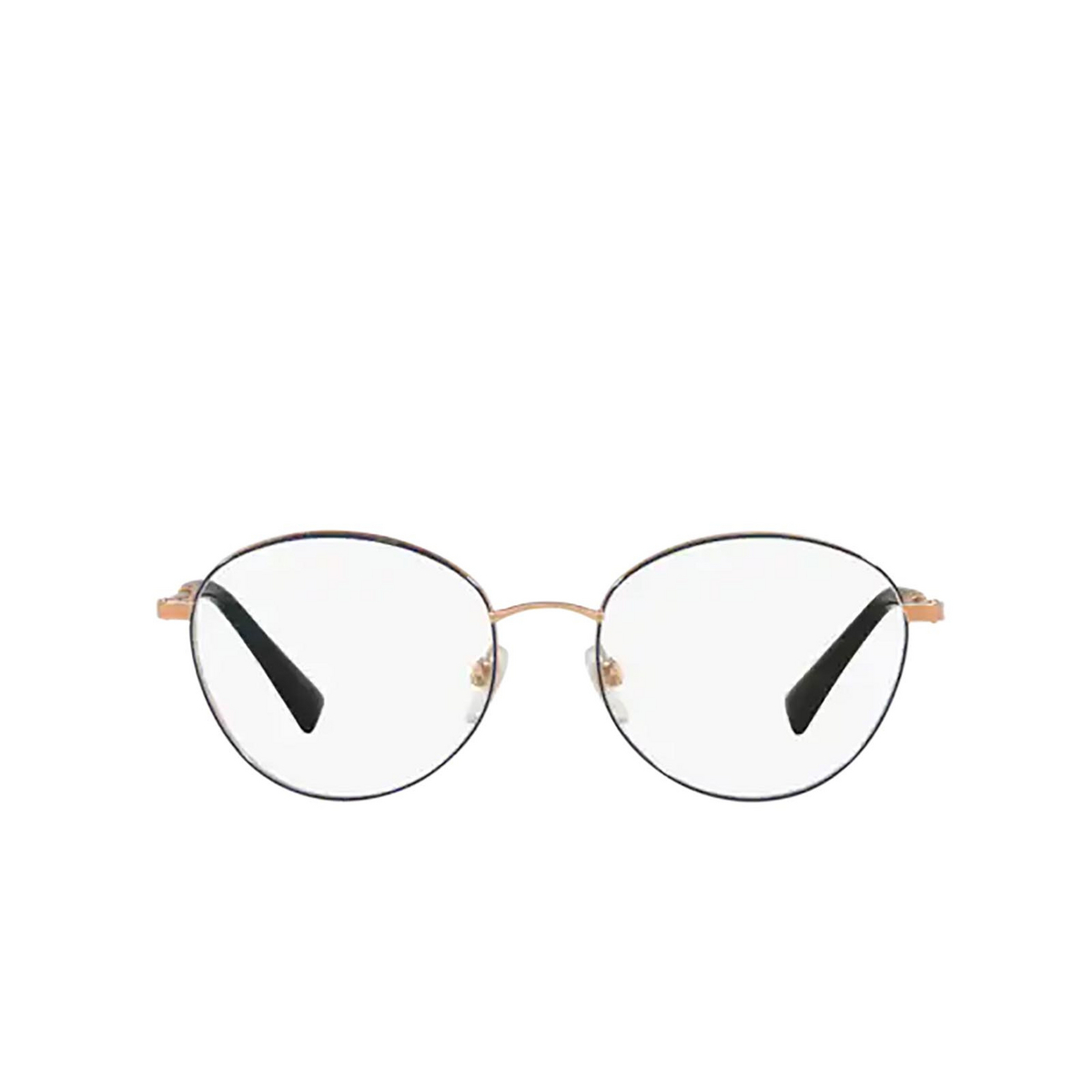 Valentino® Oval Eyeglasses: VA1003 color Rose Gold / Blue 3031 - front view.