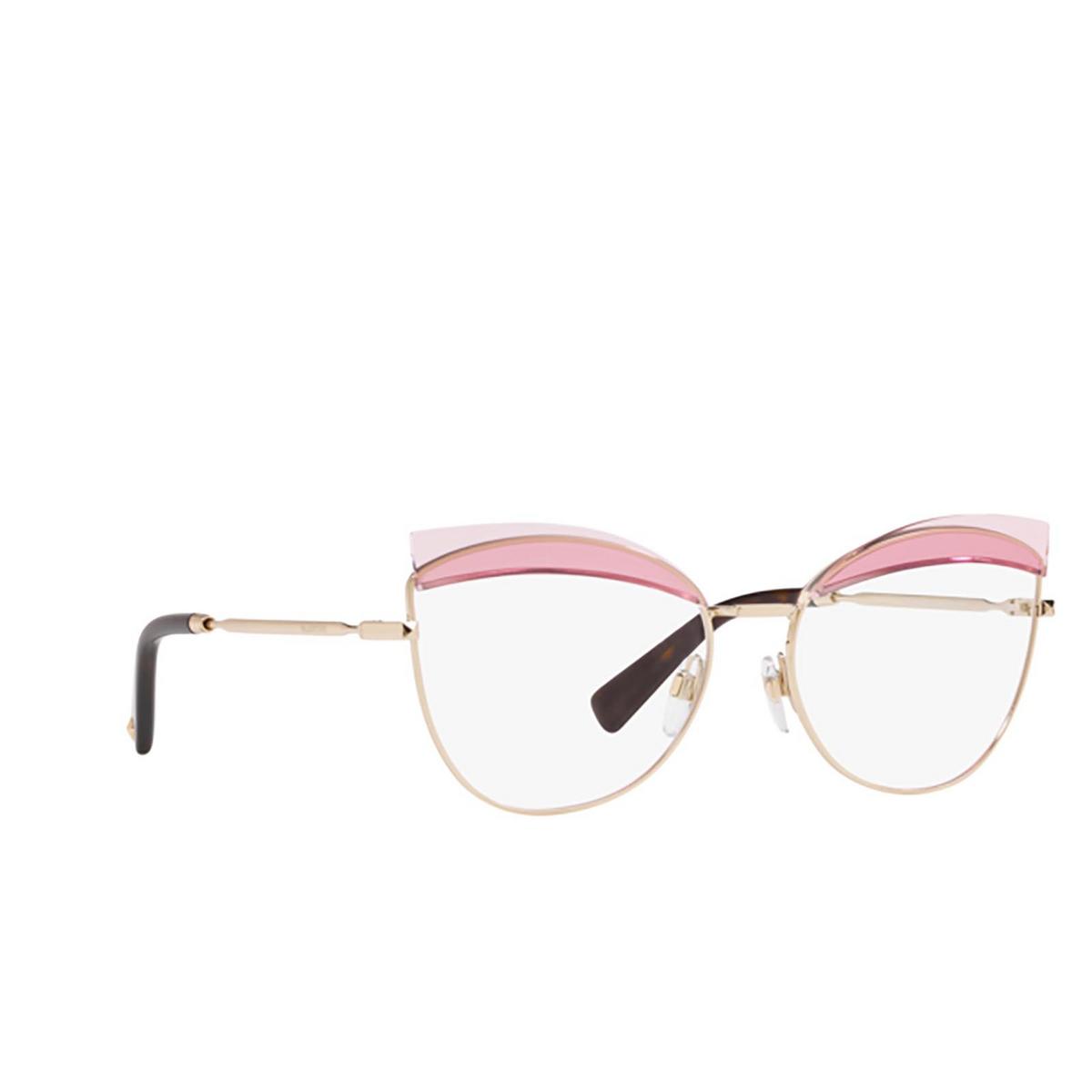 Valentino® Butterfly Eyeglasses: VA1014 color Light Gold 3003 - three-quarters view.