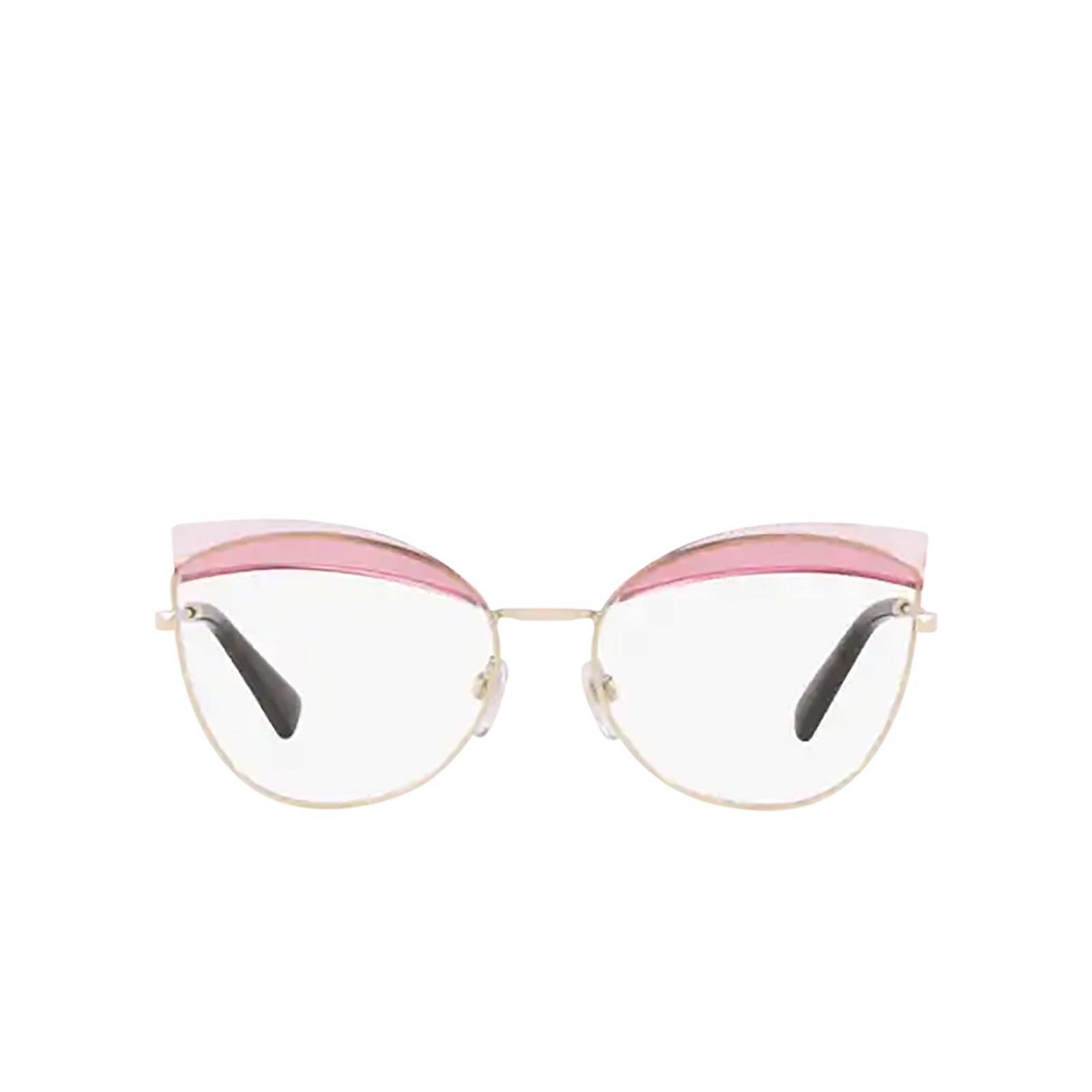 Valentino® Butterfly Eyeglasses: VA1014 color Light Gold 3003 - front view.