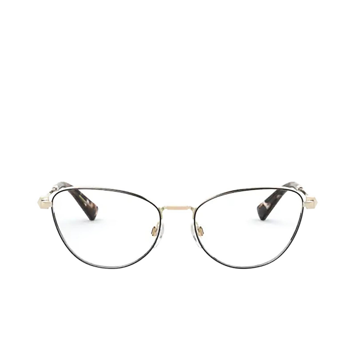 Valentino® Cat-eye Eyeglasses: VA1016 color Pale Gold / Black 3053 - front view.