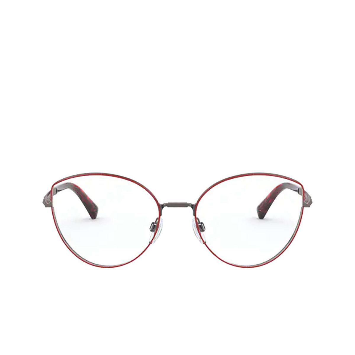 Valentino® Cat-eye Eyeglasses: VA1018 color Gunmetal / Red 3012 - front view.